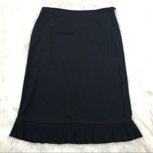 Ann Taylor jersey skirt with pleat detail Sz 10
